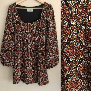 🧡Vintage 70's Judith March Mini Dress!